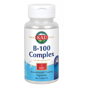 B-100 Complex Sustained Release 60 Tabs by Kal (2590218879061)