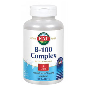 B-100 Complex Sustained Release 120 Tabs by Kal (2590218944597)