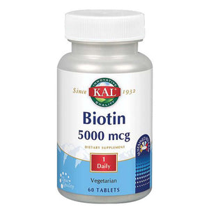 Biotin Timed Release 60 Tabs by Kal