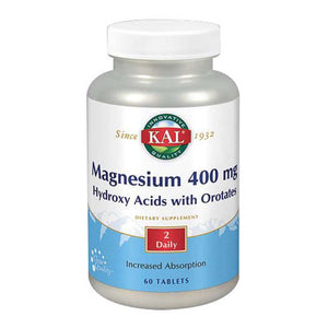 Magnesium Hydroxy Acids With Orotates 60 Tabs by Kal