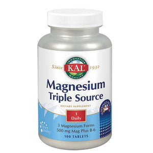 Magnesium Triple Source 100 Tabs by Kal