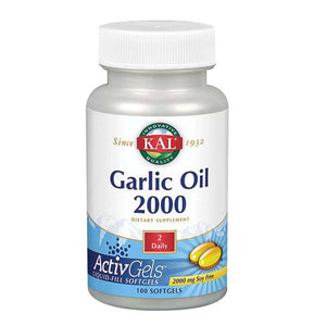 Garlic Oil 1500 100 Softgels by Kal (2590224908373)