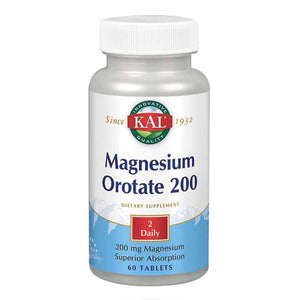 Magnesium Orotate 60 Tabs by Kal