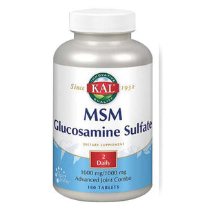 MSM Glucosamine Sulfate 60 Tabs by Kal