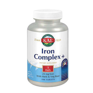 Iron Complex+ 100 Tabs by Kal (2590225662037)