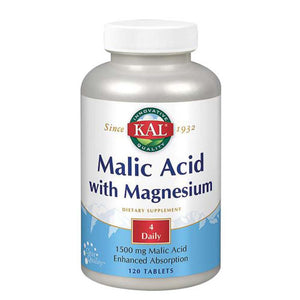 Malic Acid With Magnesium 120 Tabs by Kal