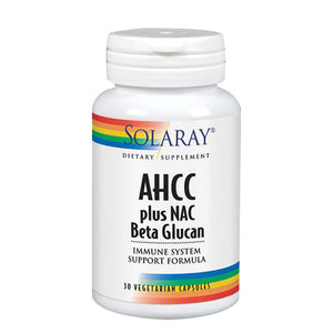 AHCC Plus NAC & Beta Glucan 30 Caps by Solaray