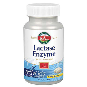 Lactase Enzyme 60 Softgels by Kal (2590227300437)