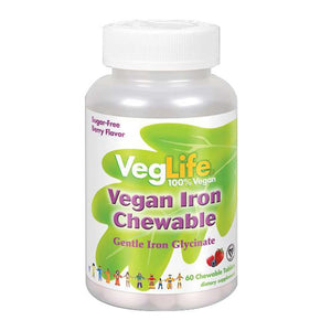 Vegan Iron Chewable 60 Chews by VegLife