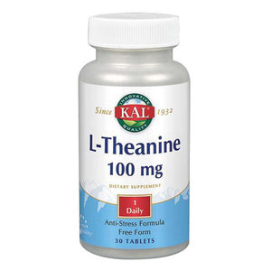 L-Theanine 30 Tabs by Kal (2590228873301)