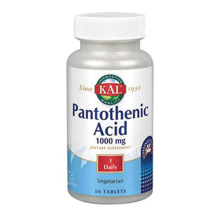 Pantothenic Acid 50 Tabs by Kal