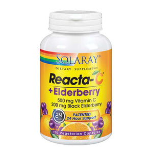 Reacta-C + Elderberry 120 Caps by Solaray