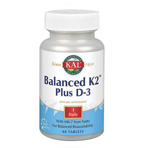 Balanced K2 Plus D-3 60 Tabs by Kal