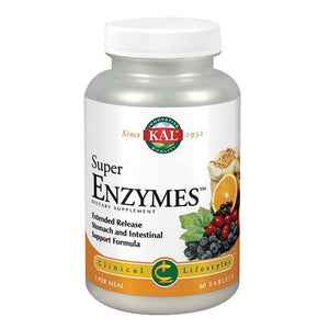 Super Enzymes 60 Tabs by Kal (2588384690261)