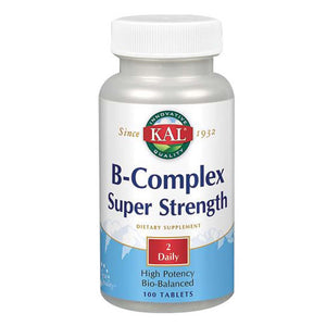 B-Complex Super Strength 100 Tabs by Kal (2590231265365)