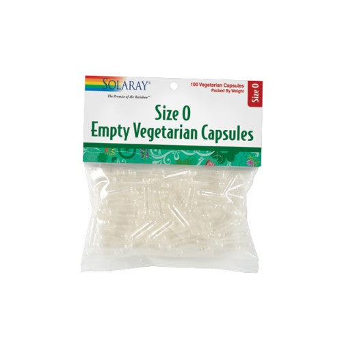 Size 0 Empty Vegetarian Capsules 100 Count by Solaray