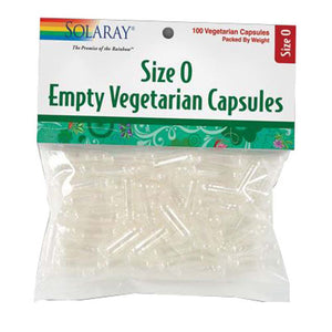 Size 0 Empty Vegetarian Capsules 500 Count by Solaray (2590232150101)