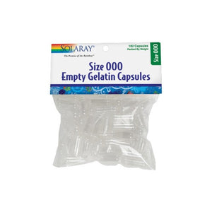 Size 000 Empty Gelatin Capsules 100 Count by Solaray