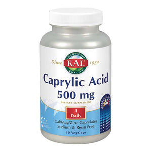 Caprylic Acid 90 Caps by Kal (2588386066517)