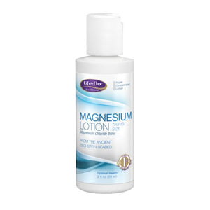 Magnesium Lotion Travel Size Vanilla, 2 oz by Life-Flo