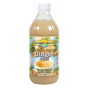 Ginger Juice Certified Organic 16 oz by Dynamic Health Laboratories (2587742535765)