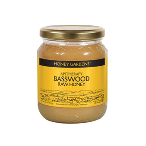 Raw Honey Basswood 1 lb by Honey Gardens Apiaries