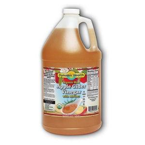 Apple Cider Vinegar with Mother Certified Organic 1 gal by Dynamic Health Laboratories (2590282711125)