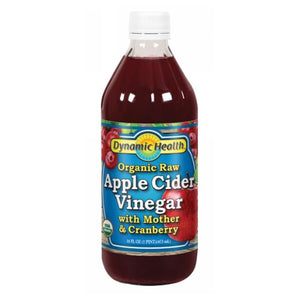 Apple Cider Vinegar with Mother & Cranberry Certified Organic Liquid Cranberry, 16oz by Dynamic Health Laboratories (2590283366485)