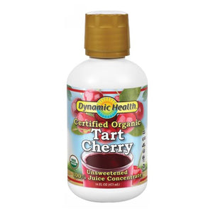 Tart Cherry Concentrate Certified Organic Plastic 16oz by Dynamic Health Laboratories (2590284283989)