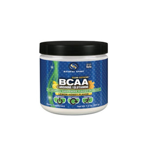 BCAA Powder Fine Powder Lemon Honey, 204g by Natural Sport (2590284644437)