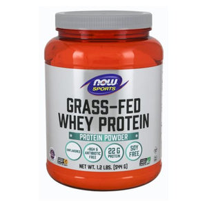 Whey Protein Concentrate Grass-Fed & Unflavored Powder 1.2 lbs by Now Foods