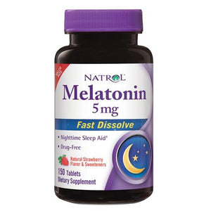 Melatonin Fast Dissolve 150 Count by Natrol (2590287462485)