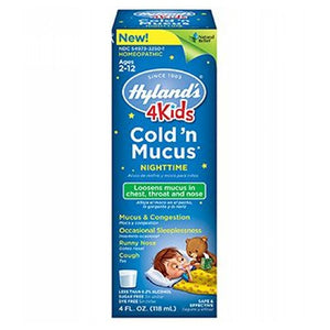 4 Kids Cold & Mucus Day and Night 8 Oz by Hylands