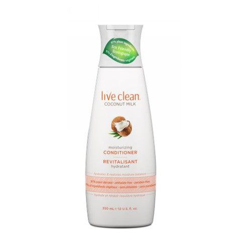 Coconut Milk Moisturizing Conditioner 12 Oz by Live Clean