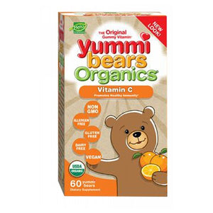 Organic Vitamin C 60 Count by Yummi Bears (Hero Nutritional Products)