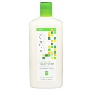 Exotic Marula Oil Silky Smooth Conditioner 11.5 Oz by Andalou Naturals (2590290149461)