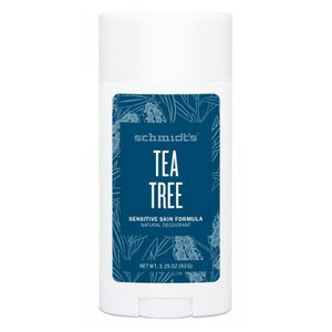 Deodorant Stick Senstive Skin Tea Tree 3.25 Oz by Schmidt's Deodorant (2590290411605)
