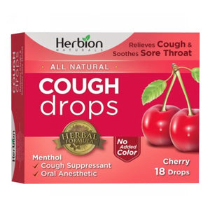 Cough Drops Cherry 18 Count by Herbion