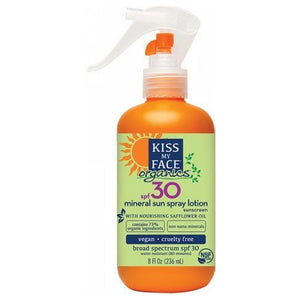 Mineral Sun Spray Lotion Sunscreen SPF30 8 Oz by Kiss My Face