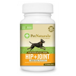 Hip & Joint Tablets for Dogs 90 Count by Pet Naturals of Vermont
