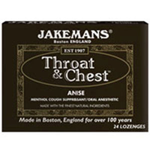 Throat & Chest Lozenges Anise 30 CT by Jakemans