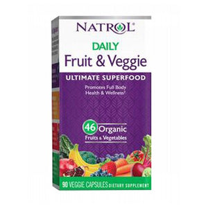 Daily Fruit and Veggie 90 Veg Tabs by Natrol