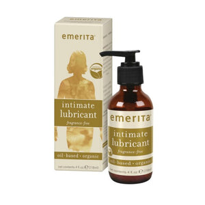 Oil-Based Lubricant Certified Organic Fragrance Free 4 Oz by Emerita