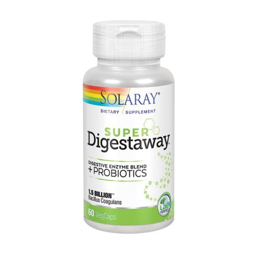 Super Digestaway + Probiotics 60 Veg Caps by Solaray