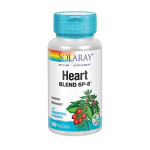 Heart Blend SP-8 100 Veg Caps by Solaray (2587774287957)