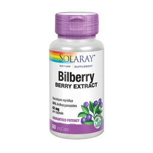 Bilberry Berry Extract 60 Veg Caps by Solaray (2590299684949)