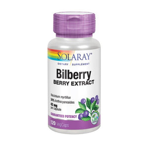 Bilberry Berry Extract 120 Veg Caps by Solaray (2590299717717)