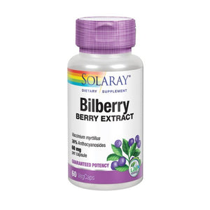Bilberry Berry Extract 60 Veg Caps by Solaray (2590299783253)