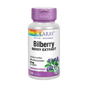 Bilberry Berry Extract 120 Veg Caps by Solaray (2590299816021)