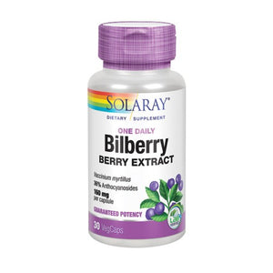 Bilberry Berry Extract 30 Caps by Solaray (2590299881557)